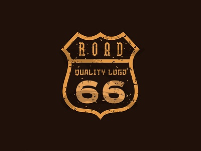 Road 66 road sign scrape coat line route 66 highway shield emblem sign road 66 logotypes