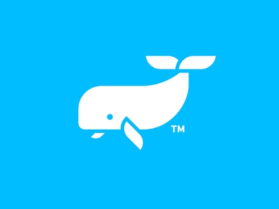 Cachalot sign minimalism icons logos moby dick animal fish fin sperm whale cachalot whale white