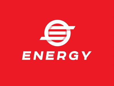 Energy logotype minmalizm abstract mark sign logo circle red e letter energy