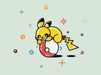 Pikachu pokemon go icons pokemongo games ios android trand intendo games flat yellow logos yuri kras