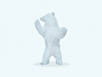 Polar Bear low poly grizzly logos beast wild brown white angles polygons predator bear polar bear