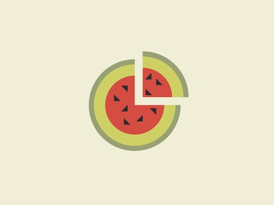 WaterMelon mark sign icon logos minimalist fresh abstract food vegetable fruit berry watermelon