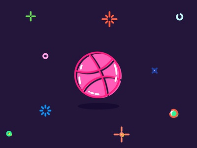I have 2 Invitations krasnoshchok round ball logos logo dribbble invitat invitations