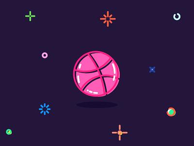 I have 2 Invitations krasnoshchok round ball logos logo dribbble invitat invitations