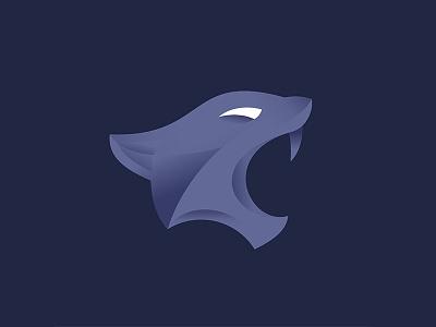 Panther purple logo teeth head lion animal predatory wild fall panther