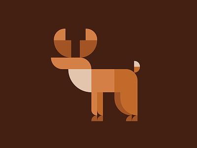 Deer illustrations minimalism christmas animal golden section logo geometry antlers elk deer