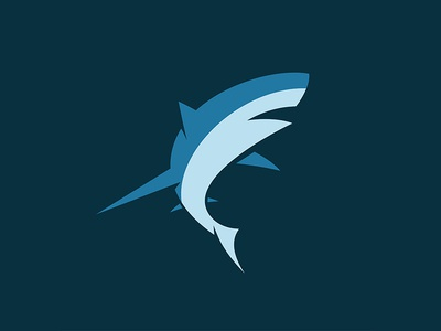 Shark minimalism water mammal marine predator fin logo fish animal shark
