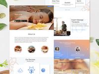 Landing page of massage app
