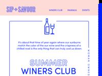Wine Club Email Design