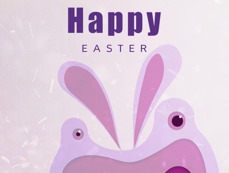 Happy Easter enjoy the moment creativehunger uxlover designmadness easter bunny card design illustrator photshop easter