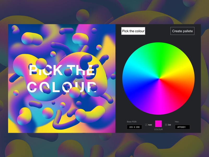Colour picker by Anna Piecha on Dribbble