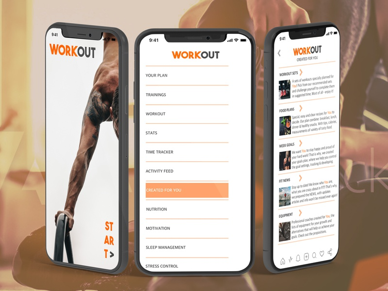 Curated for You workout mobile design fitness app fit tracking app created for you curated for you daily ui 091 iphone iphone x adobexd adobe photoshop dailyui adobe xd ux ui design design enjoy the moment creativehunger uxlover designmadness