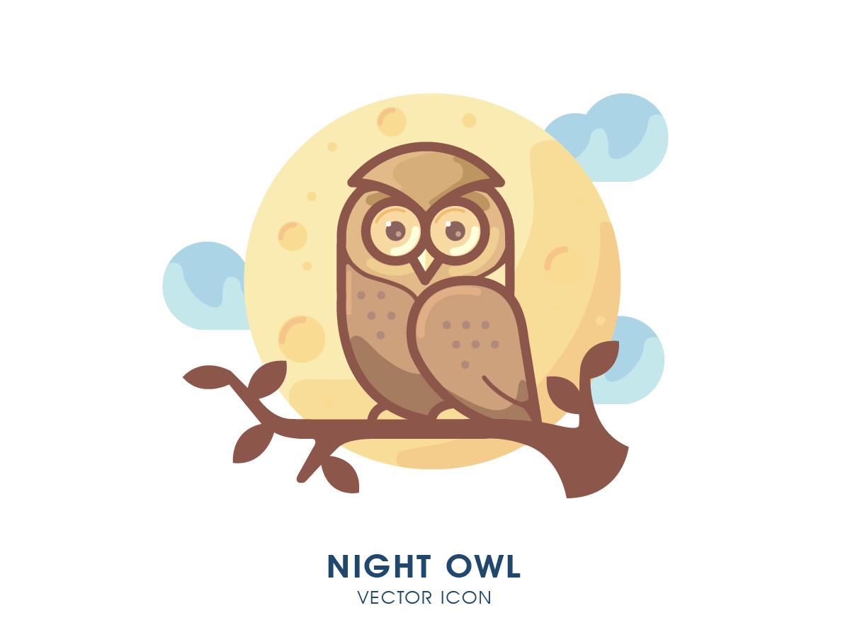 Owl illustracion icons icon vector night illustrator owl logo illustration owl
