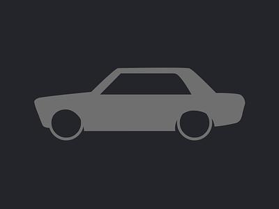 Datsun 1600 (510) car cars datsun 1600 vector silhouette datto 510 nissan 70s 1970s