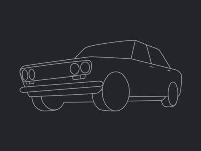 Datsun 1600 side on illustration nissan datsun 1600 510 datto vector silhouette cars 70s 1970s car