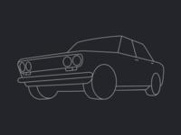 Datsun 1600 side on