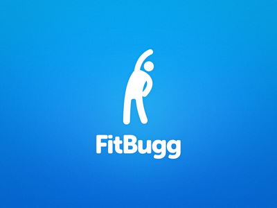 Fitbugg Logo logo logo design fitness museo ios fitbugg branding blue marketing stick figure