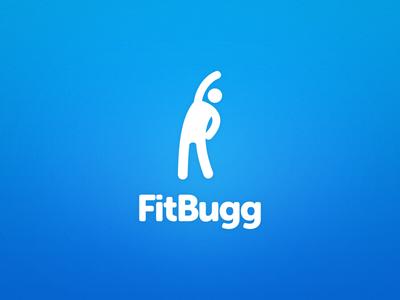 Fitbugg Logo logo logo design fitness museo ios fitbugg branding blue marketing stick figure