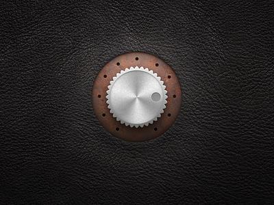 Steampunk Dial skeuomorphism skeuomorphic leather rust rusty knob dial steampunk metal realistic ui gui