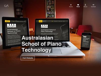 Responsive web design mockup responsive iphone macbook piano folio portfolio rwd