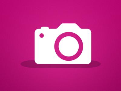 Camera icon camera icon icon design flat pink illustration vector