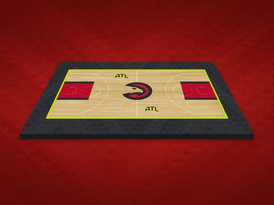 Atlanta Hawks Court Mockup sports sport basketball granite atl hawks atlanta hawks atlanta nba