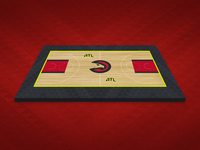 Atlanta Hawks Court Mockup