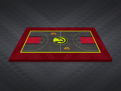 Atlanta Hawks Granite Court Mockup sports sport branding atl atlanta hawks atlanta basketball nba