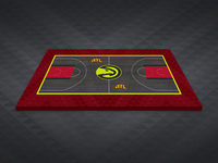 Atlanta Hawks Granite Court Mockup