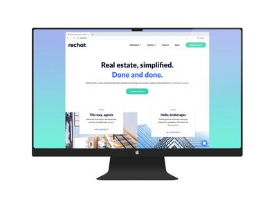 Rechat Website Redesign redesign website designing website designer real estate website design website