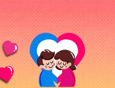 Cute couple Logo