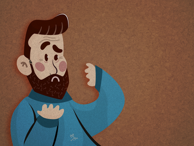 Having a beard increases the risk of coronavirus? health vector character character man vector illustration digital draw digital illustration illustration