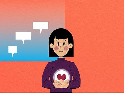 Organ donation organ donation woman digital illustration character vector illustration illustration