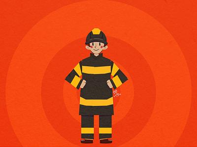 Happy fireman day! character design character vector illustration digital draw digital illustration illustration