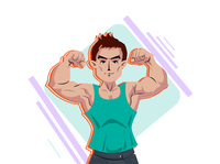 A muscle man