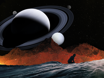 Space Montage night sky photomontage collageart planets space photoshop collage montage