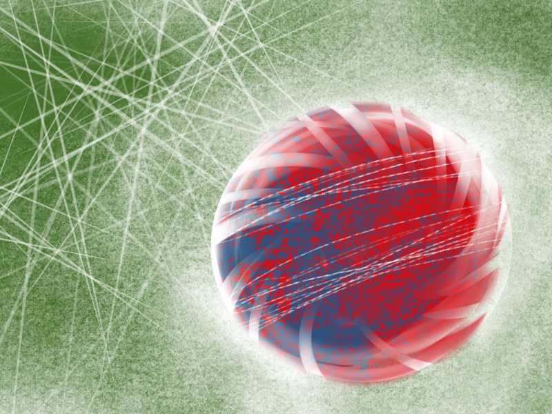 High speed patterns blue white red green speed ball cricket