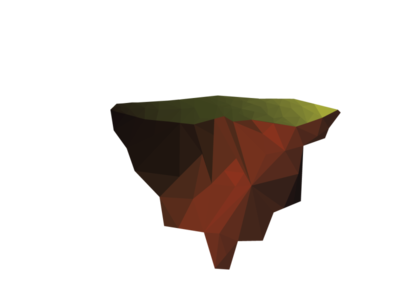 Low Poly Island vector illustraion lowpoly