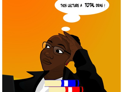 Lecture Sessions illustrator african pop art woman illustration illustration vector