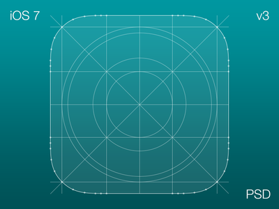 iOS 7 Icon Grid V3