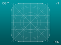 iOS 7 Icon Grid V3