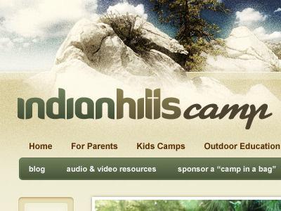 Indian Hills Camp Interior website interior page logo menu
