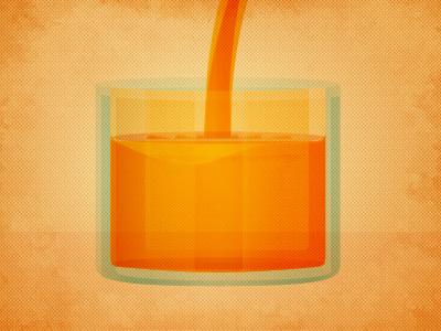 Electric OJ illustration texture juice liquid