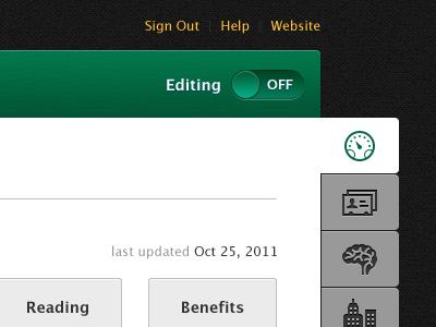 CareerCraft Dashboard saas web app ui user interface website tabs interface