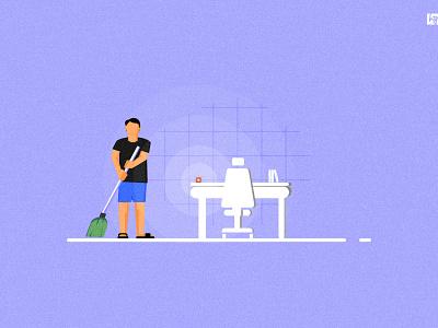 #CLEANING print design design blue illustration vector india tamilnadu graphic  design