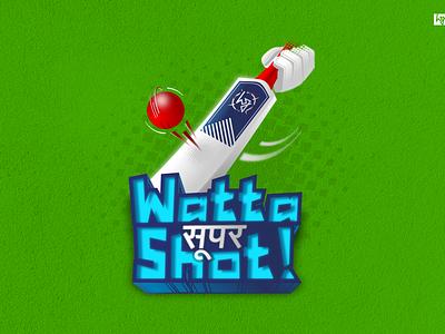 #wattasupershot-Updated inkscape inkskape tirupur cricket tamilnadu india illustration graphic  design