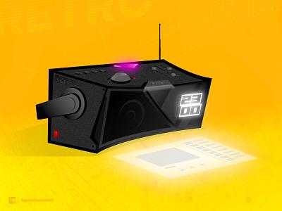 #retrofuturespeaker retro future tech india tamilnadu musicplayer music conceptart speaker retrofuture illustration