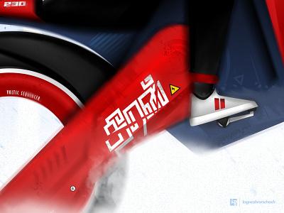 #theeran hello dribbble tamil speed vroom conceptart concept future woman girl bike racer red vector illustration graphic design