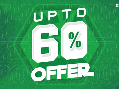 #60% dribbble hello discount percent 60 offer banner store clothing poster print design illustration graphic  design
