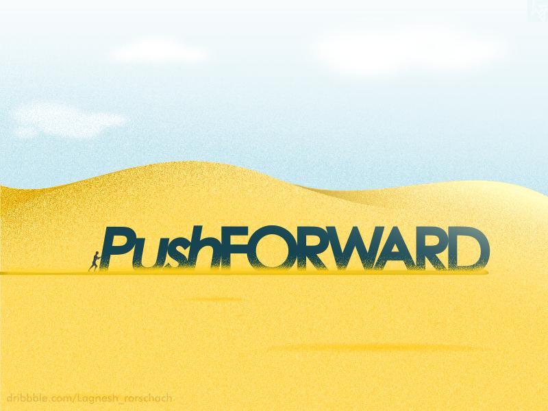 #PushForward inkscape j-st gradient landscape design desert motivation forward push noise illustration design graphic